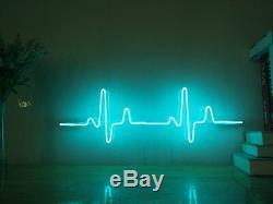 Nouveau Ecg Électrocardiogramme Neon Sign Homeroom Décorations Pour Les Murs Décor Pour Chistmas