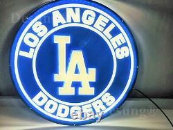 Nouveau Los Angeles Dodgers 3d Led Neon Light Sign 16 Beer Bar Wall Decor