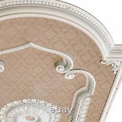 Nouveau Lustre Rectangulaire Blanc 94 Plafond Médaillon Mur Décor Livraison Gratuite
