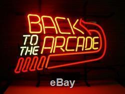 Nouveau Retour À La Décoration Murale Arcade Man Cave Bar Neon Light Sign 17x14