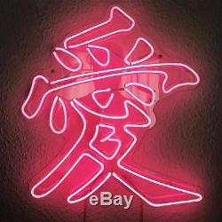 Nouvelle Lettre Chinoise Amour Oeuvre D'art Décorations Acrylique Neon Light Sign 19x15
