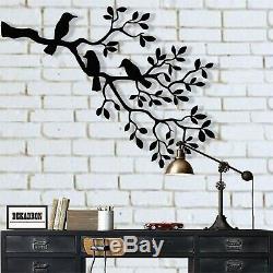 Oiseaux Metal Art, Décorations Pour Les Murs En Métal, Oiseaux Sur La Branche, Sculpture Oiseaux Wall Art