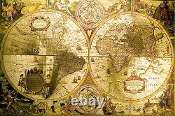 Old Map Antique World Map Wall Mural Photo Wallpaper Giant Wall Decor