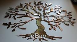 Olive Tree Large & Short Version -tree De Vie Metal Wall Art Décor Nouveau 36 W