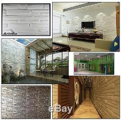 Panneau Mural Décoratif 3d Mur De Briques Tuiles Effet Bambou Naturel Fond D'écran 6 M²