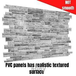Panneaux Muraux 3d Gris Pierre Brique Ardoise Effet Décoratif Pvc Revêtement Plastique