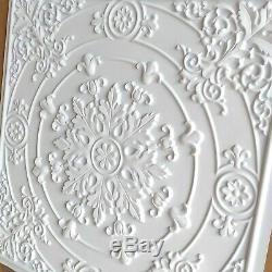 Pl18 Faux-fini Carreaux De Plafond Blanc Mat Mural Décoratif 3d Panels10tile / Lot