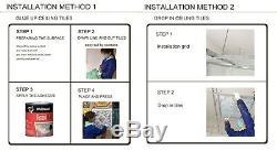 Pl18 Termine Faux Plafond En Or Cyan Carreaux Panneaux Muraux Décoratifs 3d 10tile / Lot