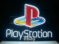 Playstation Neon Light Sign 14x10 Décorations Lampe Affichage Homme Verre Cave