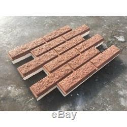 Raggy Placage Moule En Plastique Brique Mur Béton Plâtre Plâtre Décoration 3d Tile