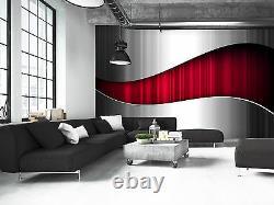 Résumé Métallique- Mur Rouge Mur Fond D'écran Photo Giant Decor Affiche Papier