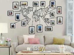 Résumé Mur Planisphère Décor, Grand Mur Métal Art, Décoratif Panneau Mural En Métal