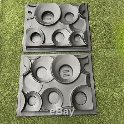 Ring Ensemble De 2pcs Murales Décoratives 3d Panneaux Blocs. Abs Moule En Plastique Pour Le Plâtre