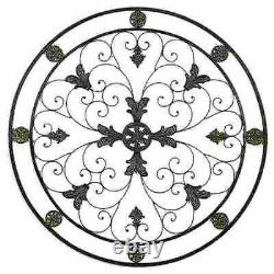 Rond Wrought Iron Wall Decor Elegant Scroll Rustic Antique Vintage Décor