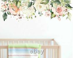 Rose Garden Flower Nursery Wall Sticker Home Décor Filles Kids Decal Art Mural