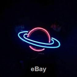 Saturn Planète Neon Sign Wall Light Chambre D'enfant Décor Veilleuse Art Cadeau