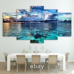 Sea Wave Paysage 5 Pièces Mur D'affiche D'art Image Home Decor
