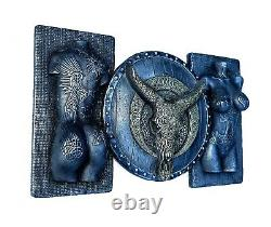 Sexy Erotic Female And Longhorn Skull Sculpture Bedroom Wall Decor Husband Gift