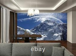Snowy Mountains Wall Mural Photo Wallpaper Giant Wall Decor Paper Poster