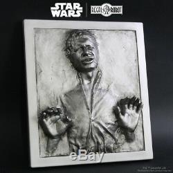 Star Wars Han Solo Dans La Carbonite Décoration Murale Plaque Regal Robot Nouveau Dans