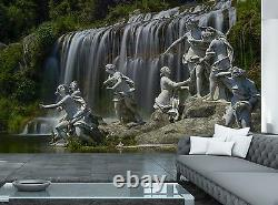 Statue Waterfall Wall Mural Photo Wallpaper Giant Wall Decor Paper Poster