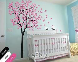 Stickers Muraux Arbre Avec Décoration Murale Hérissons Maternelle Pour La Chambre De Bébé De Kr014