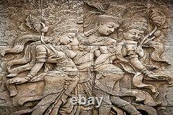 Thai Style Angel Statue Mural Photo Fond D'écran Giant Decor Affiche Papier