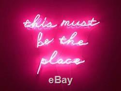 This Must Be The Place Rose Neon Light Sign Acrylique Lampe En Verre Décoration Murale Bar