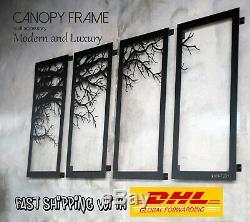 Tree Décor Mural Branche Cadre 4 Panneaux Cadres Métalliques Art Contemporain Arbre De Vie