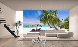 Tropical Palm Beach Mur Mural Fond D'écran Photo Giant Decor Affiche Papier