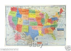 USA États-unis Carte Poster Taille Décoration Murale Grande Carte Des États-unis 40 X 28