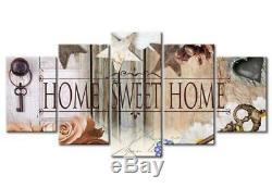 Wall Art Canvas Home Sweet Home Rustique Vestibule Salon Décor 5 Nouveau Panneau