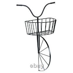 Wall Hung Metal Bike Avec Storage Basket Vintage Industrial Motorcycle Decor Nouveau