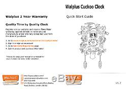 Walplus Style Vintage Coucou Horloge Murale Home Décor Art Décoration Uk Garantie