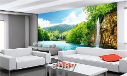 Waterfall Lake Photo Fond D'écran Giant Wall Décor Papier Poster Colle Libre